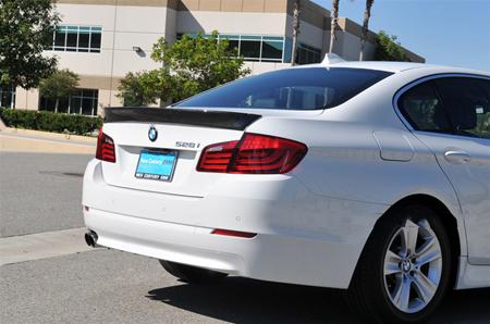 JL Motoring BMW F10 5 Series ACS Style Carbon Fiber Trunk Spoiler Rear Passenger