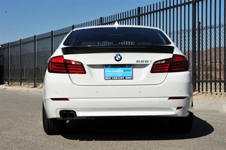 JL Motoring BMW F10 5 Series ACS Style Carbon Fiber Trunk Spoiler Rear View
