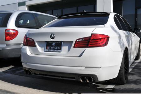 BMW F10 5 Series Hamann Style Carbon Fiber Rear Diffuser