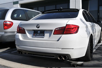 BMW F10 5 Series Hamann Style Carbon Fiber Roof Spoiler Rear View