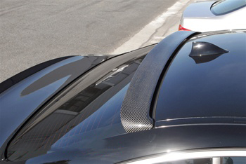 BMW F10 5 Series Hamann Style Carbon Fiber Roof Spoiler Top View