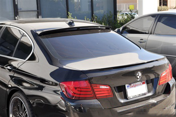 BMW F10 5 Series Hamann Style Carbon Fiber Roof Spoiler Rear Driver View