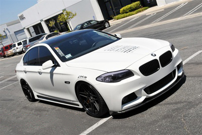 BMW F10 5 Series Hamann Style Side Skirts Front View