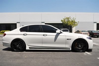 BMW F10 5 Series Hamann Style Side Skirts Side View