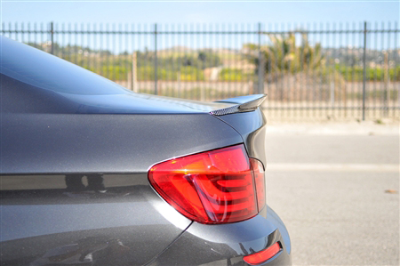 BMW F10 5 Series Performance Style Carbon Fiber Trunk Spoiler Side View