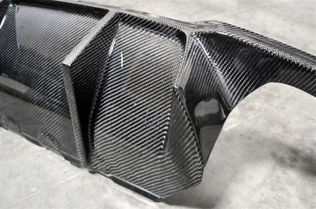 BMW F10 M5 DTM Style Carbon Fiber Rear Diffuser Off Car