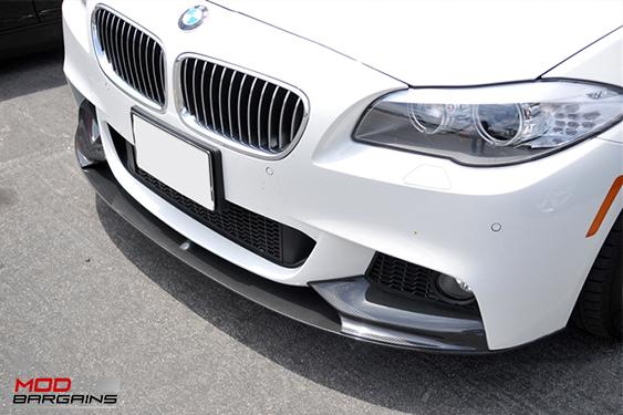 BMW F10 M5 5-SERIES Carbon Fiber Front lip, uv Protetcted, 4 pieces, JL Motoring, Modbargains.com