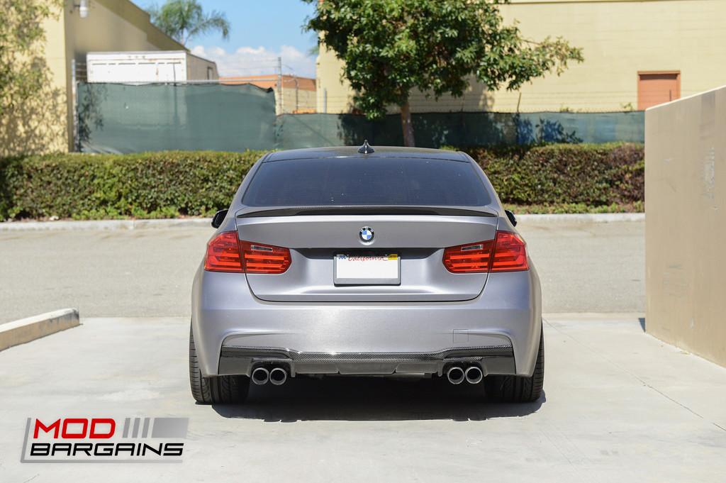Carbon Fiber M Sport V2 Rear Diffuser BMW F30 3 Series 328i 330i 335i 340i Sedan