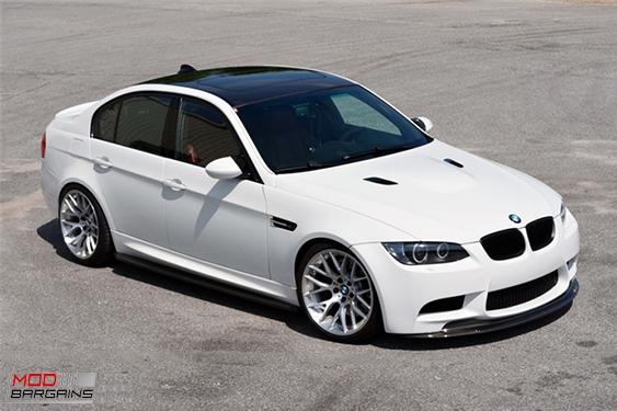 BMW E90 E92 E93 M3 Carbon Fiber Front lip, uv Protetcted, 4 pieces, JL Motoring, Modbargains.com