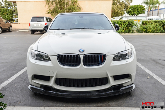 BMW E9X GT4 LIP Carbon Fiber Front lip, uv Protetcted, 4 pieces, JL Motoring, Modbargains.com