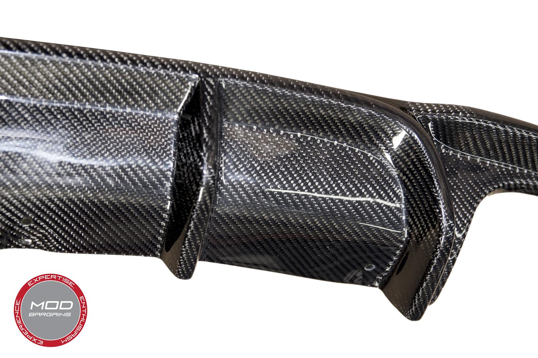 Carbon Fiber Rear Diffuser Quad Tip for F30 Material Close Up