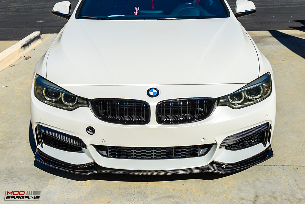 V2 Carbon Fiber Front Lip on BMW F32 Front View