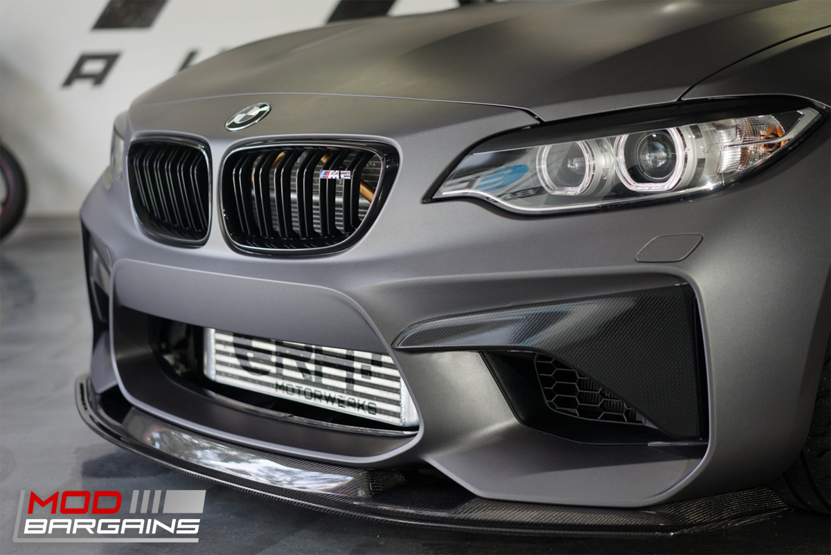 Carbon Fiber Front Lip Installed on 2015+ BMW M2 [F87] BMFS8703
