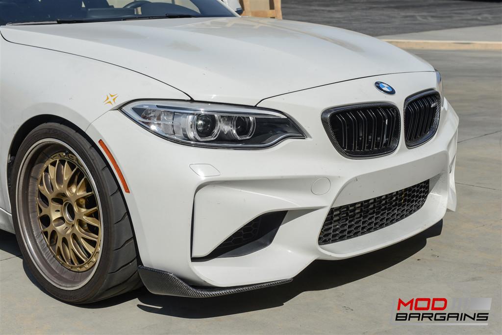 BMW M2 Carbon Fiber Front Splitter JL Motoring Intalled