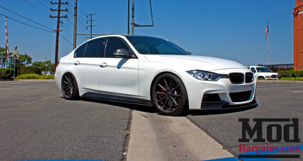 BMW F30 3-Series M-Sport Replacement Side Skirts at ModBargains.com Installed 3