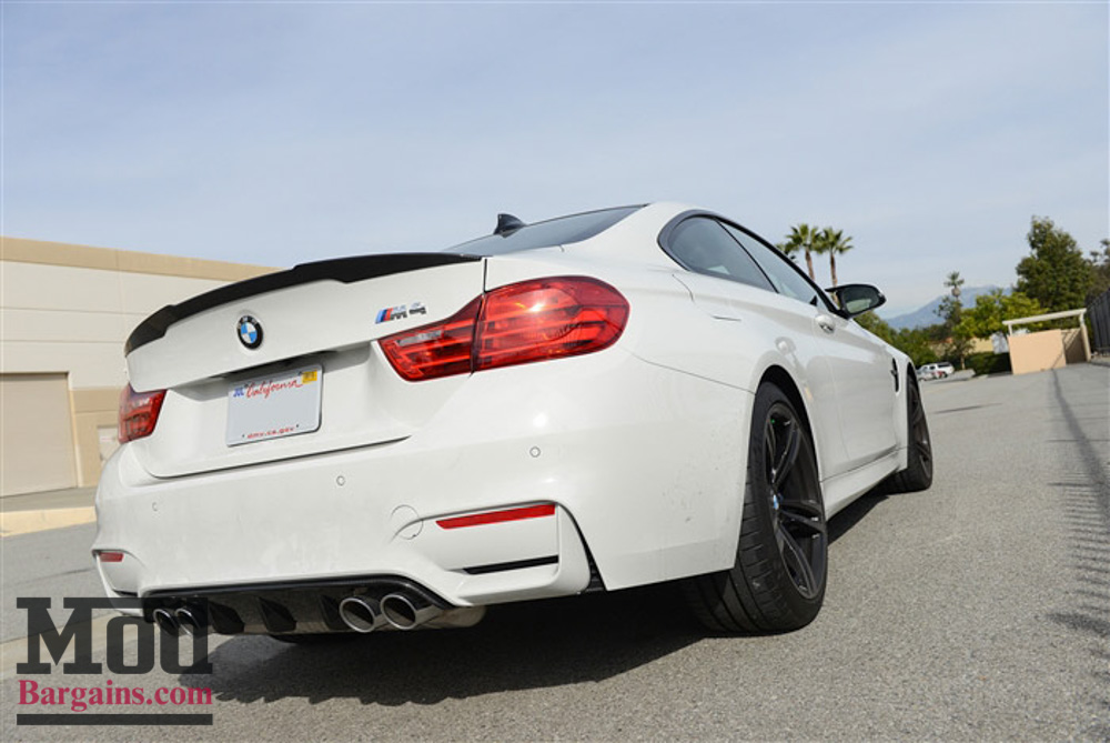 Carbon Fiber Rear Diffuser For 2014+ BMW M3 + M4 [F80 / F82] Performance Style