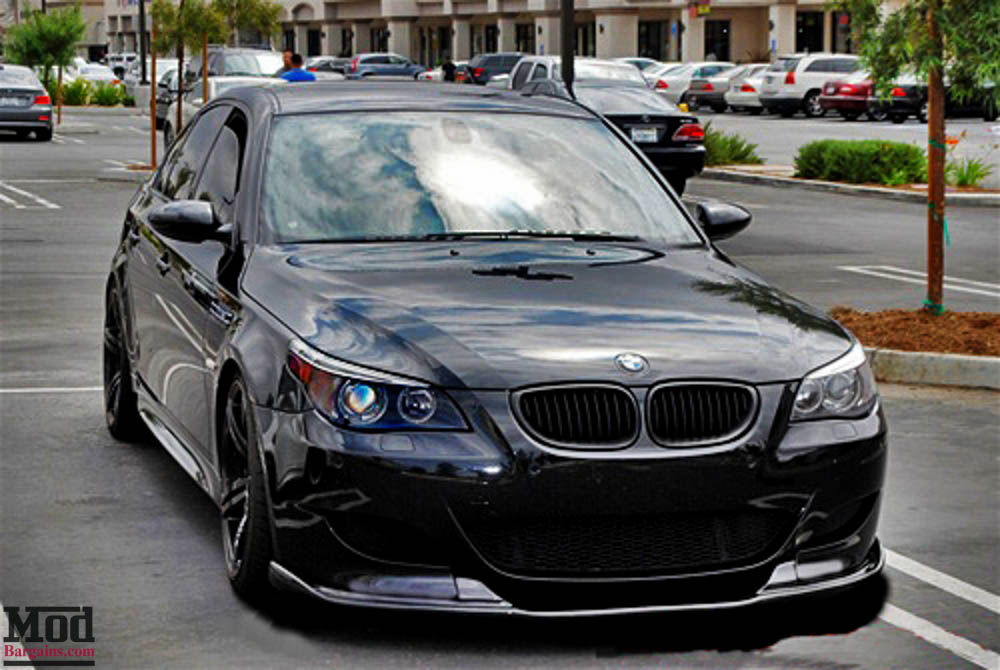 HM Style Carbon Fiber Front Lip for 2004-10 BMW M5 [E60]