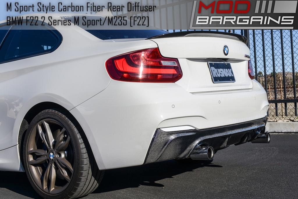 Close Side View of Carbon Fiber Rear Diffuser BMDI2221