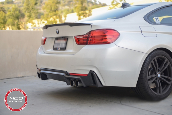 Carbon Fiber Trunk Spoiler for BMW 4-Series Coupe Installed