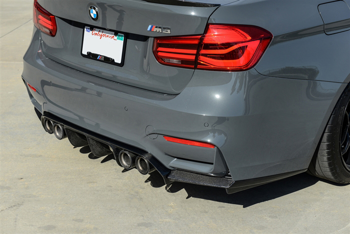 Carbon Fiber V3 Rear Diffuser Installed on BMW M3 F80 (2)
