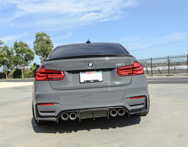 Carbon Fiber V3 Rear Diffuser Installed on BMW M3 F80