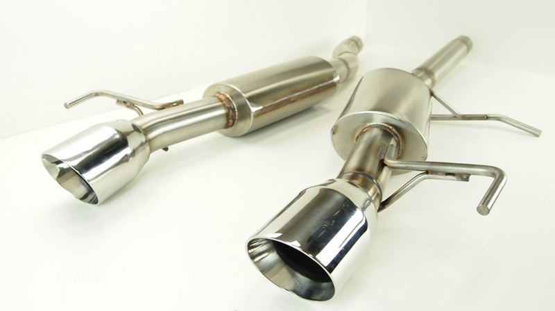 KPE Cadillac ATS 2.0T Axle Back Exhaust Unmounted 1