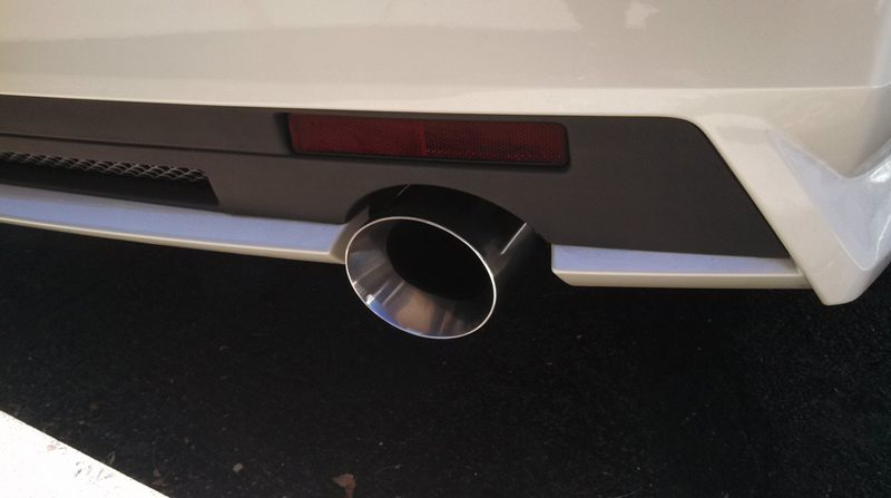 Korkar Performance Engineering Cadillac CTS-V Axle Back Exhaust 4in Rolled Edge Tips 2