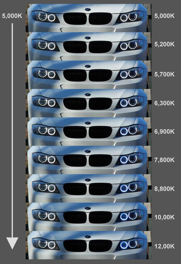 LUX H8 V6 Color Adjustable Angel Eyes for BMW