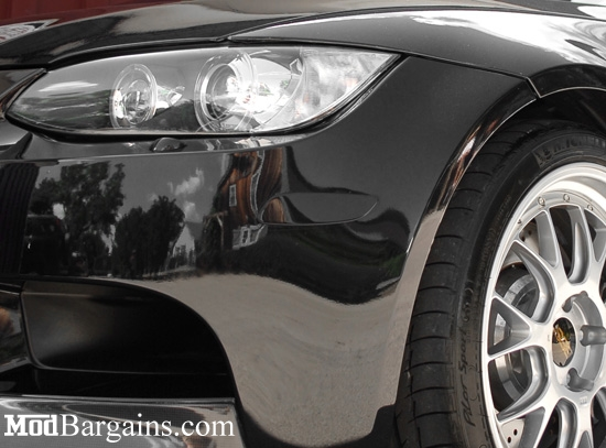 E92 BMW Front Reflectors Jet Black