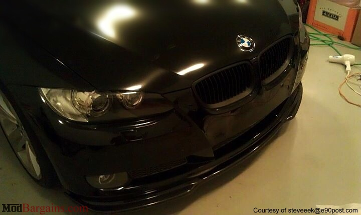 Carbon Fiber HM Style Lip Installed on E92