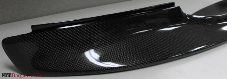 Up Close View of 1 Piece Carbon Fiber Front Lip