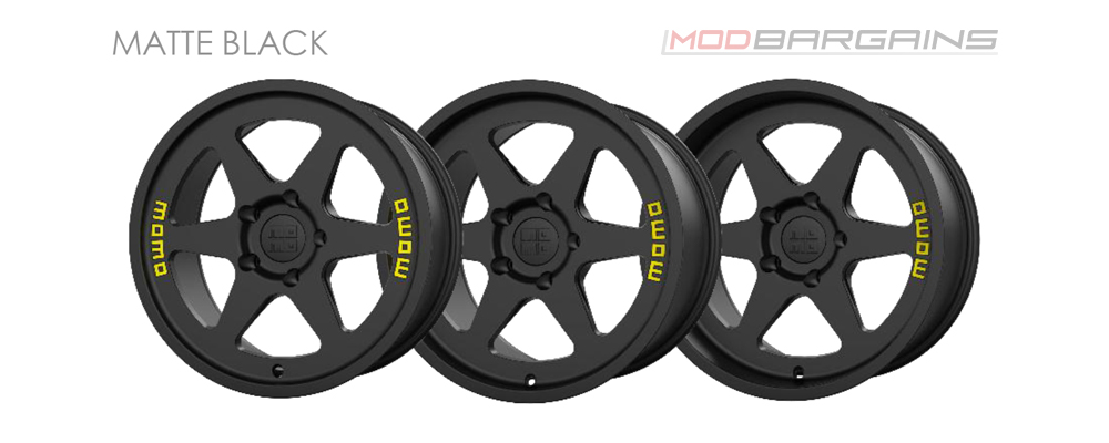 Momo Heritage 6 Wheel Color Options Matte Black Modbargains