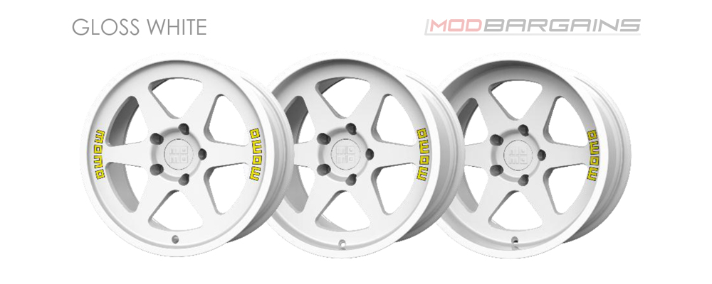Momo Heritage 6 Wheel Color Options Gloss White Modbargains