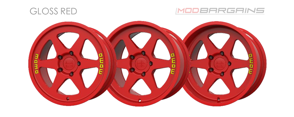Momo Heritage 6 Wheel Color Options Gloss Red Modbargains