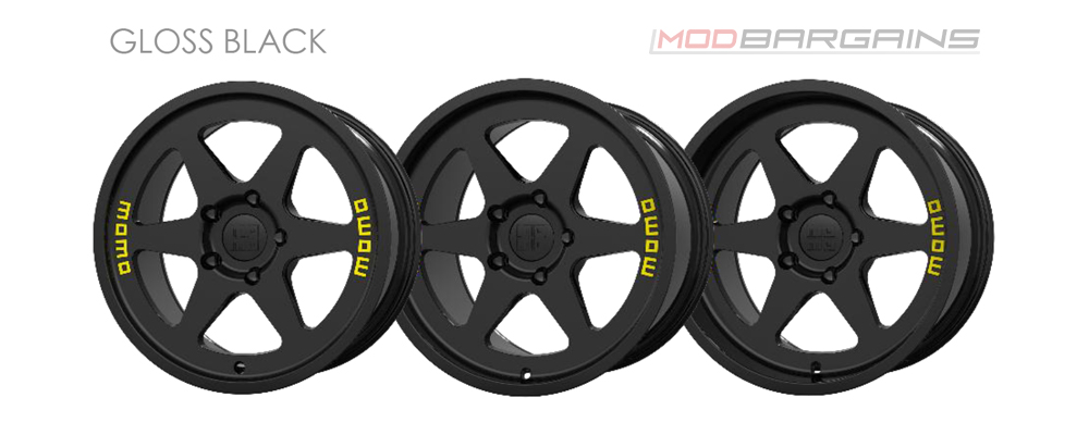 Momo Heritage 6 Wheel Color Options Gloss Black Modbargains