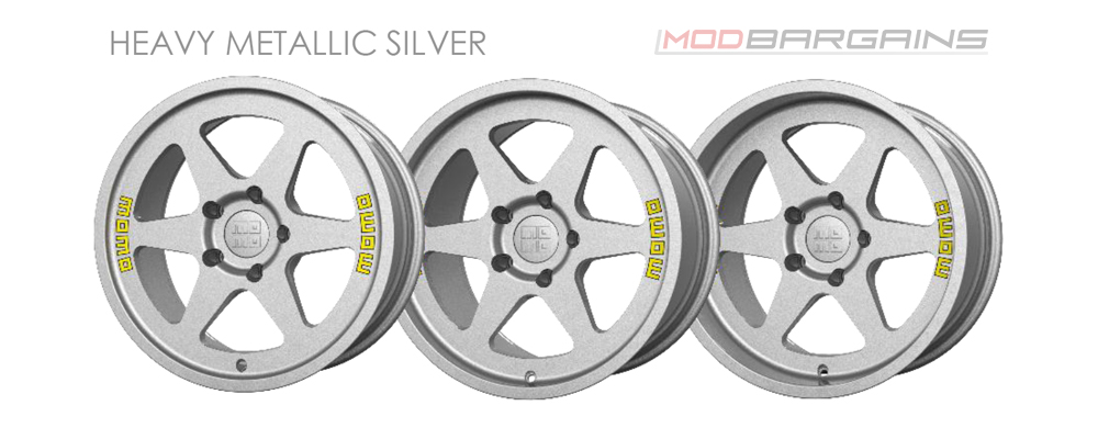 Momo Heritage 6 Wheel Color Options Heavy Metallic Silver Modbargains