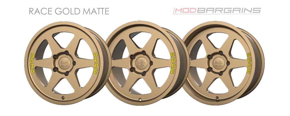 Momo Heritage 6 Wheel Color Options Race Gold Matte Modbargains