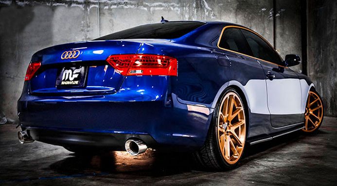 Audi A5 Quattro Magnaflow Cat-back Performance Exhaust Installed