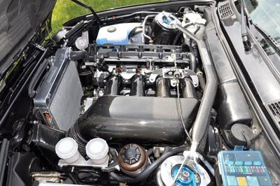 Mishimoto BMW E30 M3 Manual Aluminum Radiator Installed