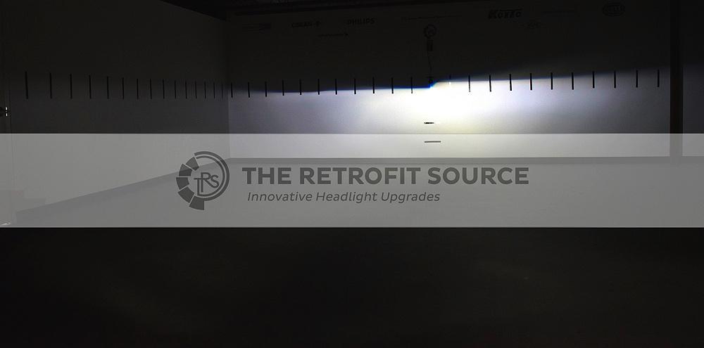 Morimoto 2Stroke LED 5700K Output Shot On Wall