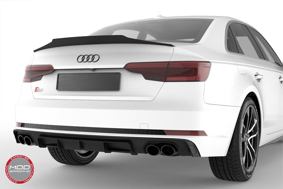 2016+ Audi A4 S4 B9 Morph Auto Design Carbon Fiber Body Kit Front Lip Diffuser Spoiler Side Skirts Valance Canards