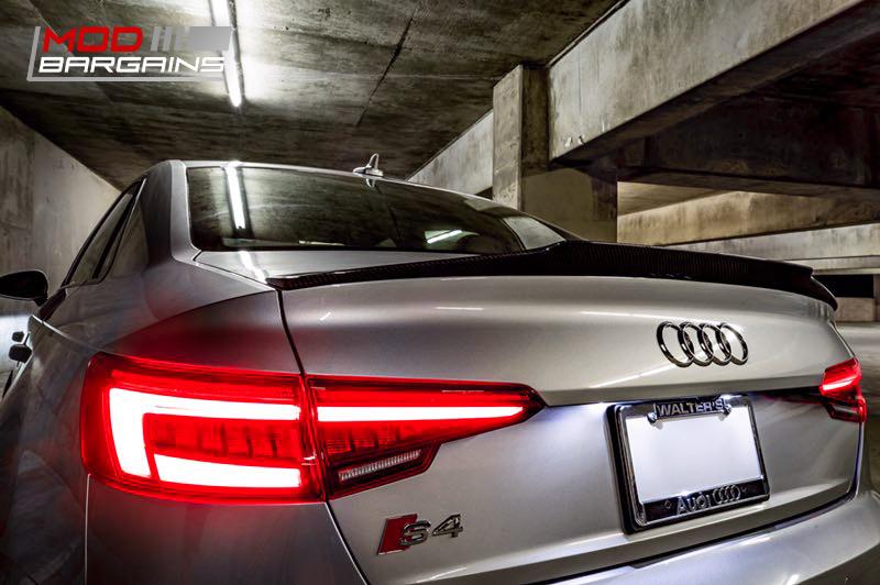 2016+ Audi A4 S4 B9 Morph Auto Design Carbon Fiber Trunk Spoiler