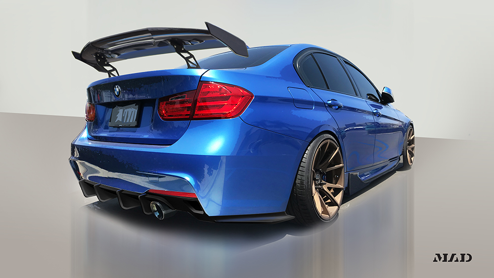 Morph Auto Design MAD Fang Front Lip BMW F30 M-Sport