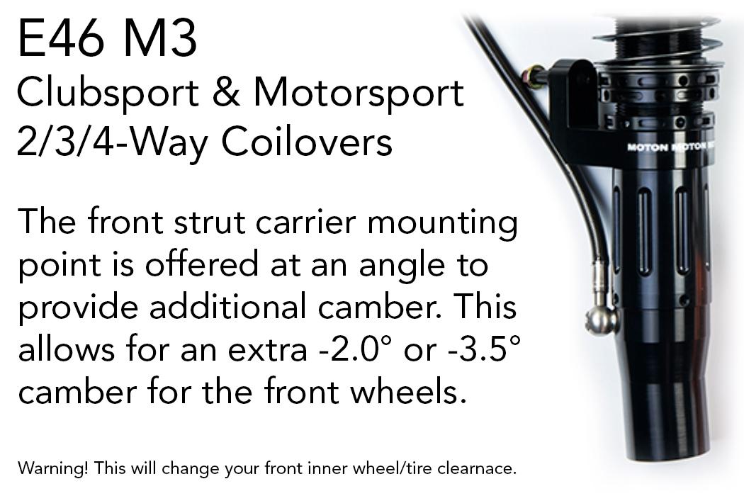 Moton E46 M3 camber shock mount