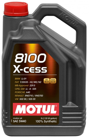Motul 8100 X-cess 5W40 5 Liter Container