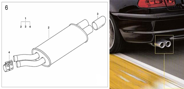 BMW Performance E46 Exhaust 325i/330i