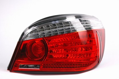BMW OEM E60 LCI Tail Lights Rear View