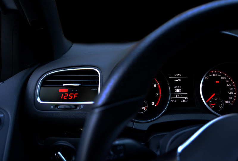 P3 Cars Digital Gauge for MK6 VW GTI - Installed