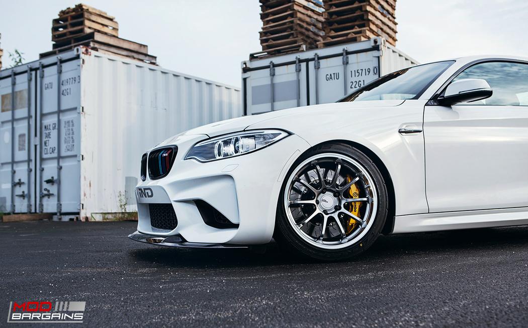 RKP Carbon Fiber Front Lip on 2016 BMW M2 F87