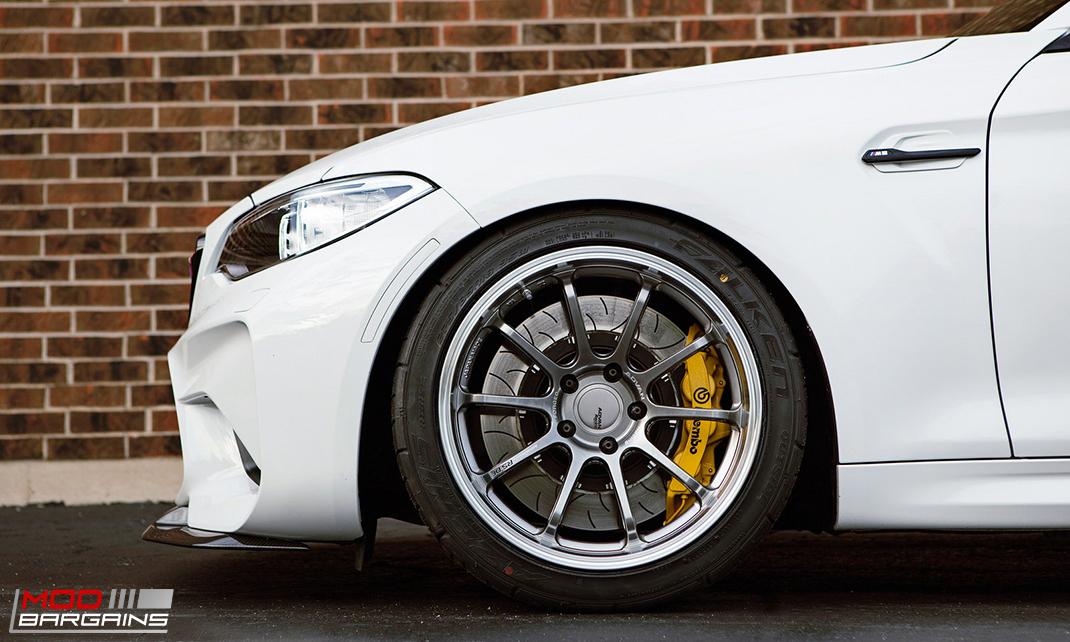 RKP Carbon Fiber Front Lip Side View on 2016 BMW M2 F87